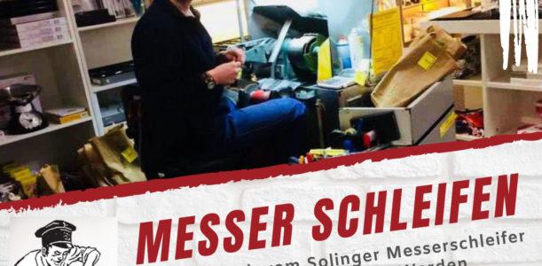 Messerschleifen 2021 bei Stöbener in Essen-Werden